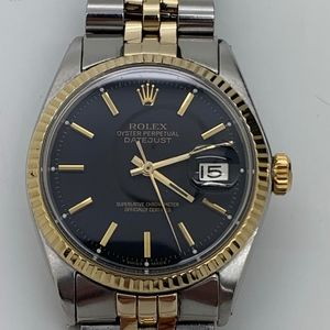 ROLEX 1600 18K DATEJUST GOLD & STAINLES S. WATCH